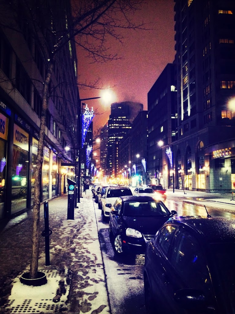 Lumières urbaines en hiver / City lights in winter